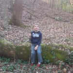Nathan on a nature hike with Daddy